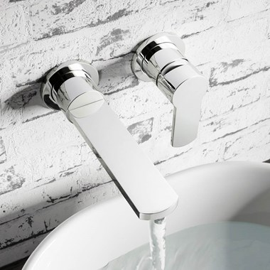 Crosswater Wisp Wall Mounted Basin 2 Hole Set