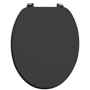 Harbour Anthracite Grey Vinyl Wrapped Soft Close Wooden Toilet Seat