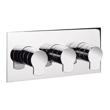 Crosswater Wisp Concealed Thermostatic Shower Valve 3 Control (Landscape)