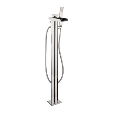 Crosswater Water Square Bath Shower Mixer inc Kit Floor Standing