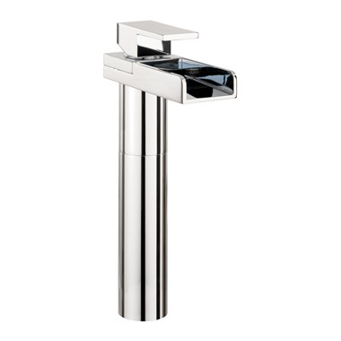 Crosswater Water Square Lights Tall Basin Monobloc with Lights