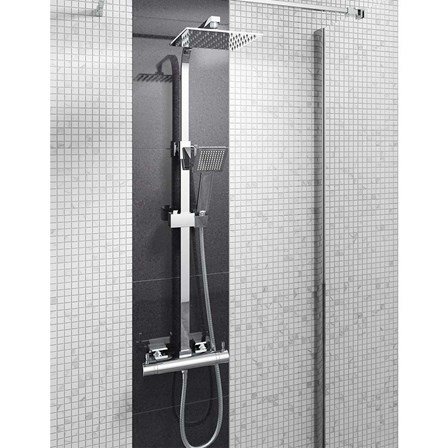 Gedy Thermostatic Shower Column.Vellamo Blade Quadro Thermostatic Exposed Shower System Tap Warehouse