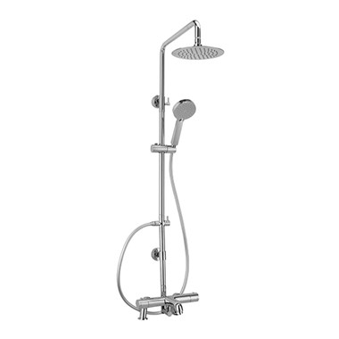 Sagittarius Xanda Bath Mounted Thermostatic Shower And Riser