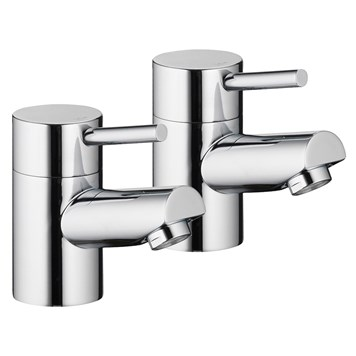 Vellamo Curvo Bath Pillar Taps