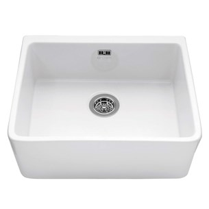 Caple Yorkshire Single Bowl White Ceramic Belfast Kitchen Sink - 595 x 475mm