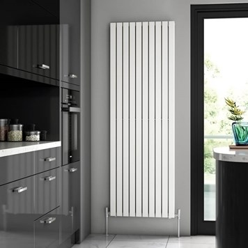 Brenton Flat Double Panel Vertical Radiator - White - 1800 x 590mm