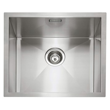 Caple Zero 1 Bowl Inset or Undermount Brushed Stainless Steel Sink & Waste Kit - 500 x 450mm