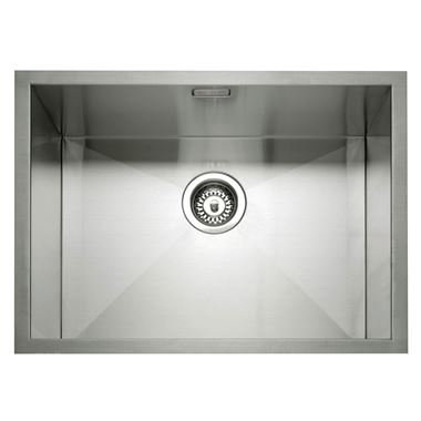 Caple Zero 1 Bowl Inset or Undermount Brushed Stainless Steel Sink & Waste Kit - 600 x 450mm
