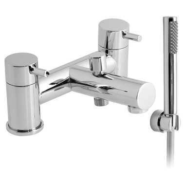 Vado Zoo Deck Mounted 2 Hole Bath Shower Mixer with Shower Kit