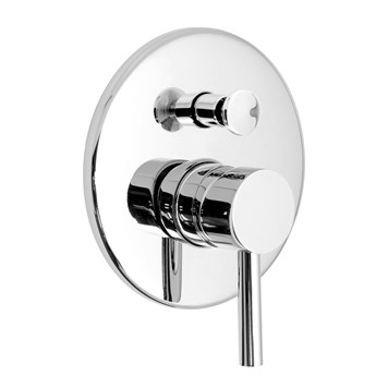 Vado Zoo Wall Mounted Concealed Manual Shower Valve with Diverter - Round Plate