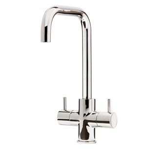 Caple Zuben Quad Twin Lever WRAS Approved Mono Kitchen Mixer - Chrome